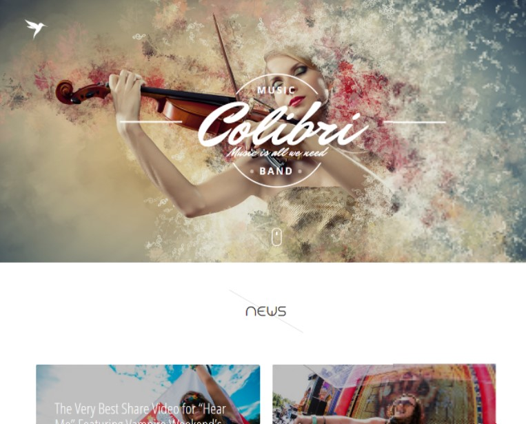 Colibri - WP Theme for Busy Musicians