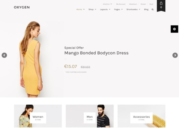 Oxygen - WooCommerce WordPress Theme