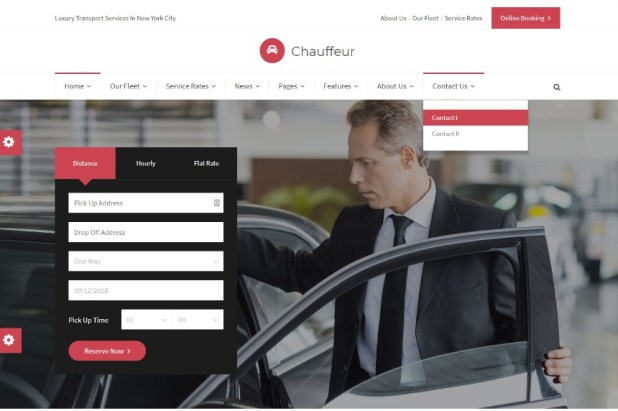 Chauffeur - Limousine, Transport And Car Hire WP Theme