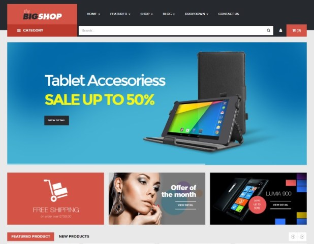 BigShop - WooCommerce Responsive WordPress Theme