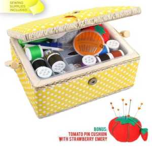 Large Sewing Basket with Accessories Sewing Organizer