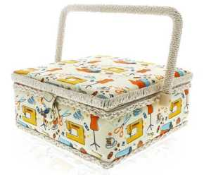 Sewing Basket Organizer - Stitching Supplies Organizer Sewing Kit Storage