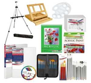 US Art Supply 72-Piece Deluxe Acrylic Painting Set