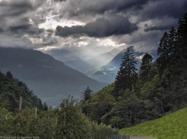 Regenwolken Schenna;Südtirol