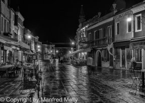 After the rain Burano bei Nacht