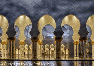 Säulenhalle Weiße Moschee VAE
