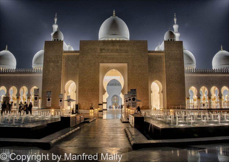 Weiße Mosche Abu Dhabi VEA