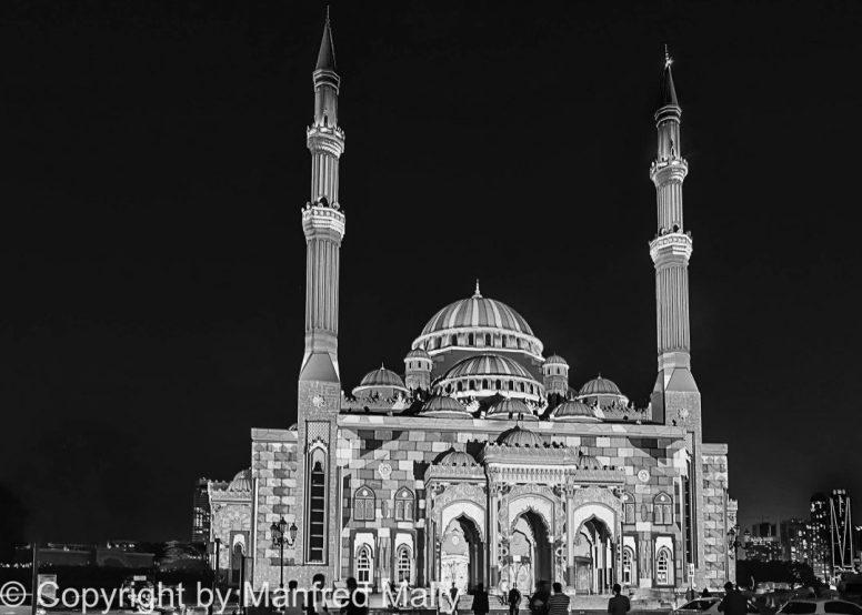 Moschee bei Nacht VAE