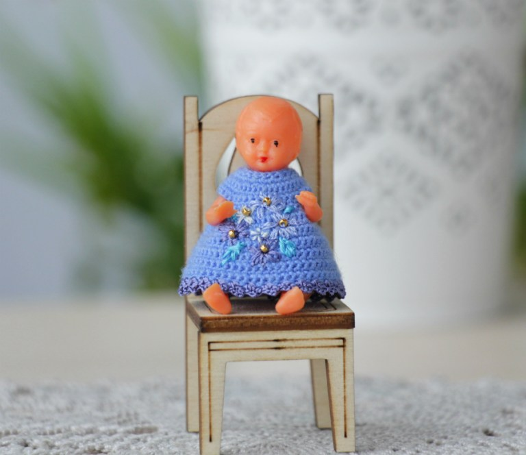 Miniature dolls dresses