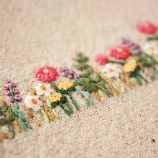 Flower embroidery idea 1
