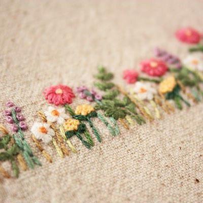 Flower embroidery idea 1