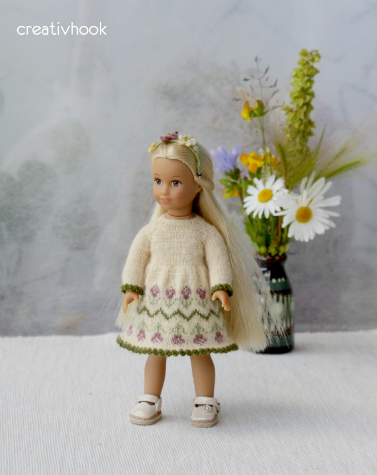 New dress to American girl mini doll Julia
