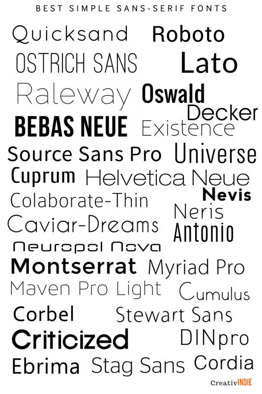 sans-533x800 What font should you use on your book cover design? Check this awesome list of best fonts per genre!