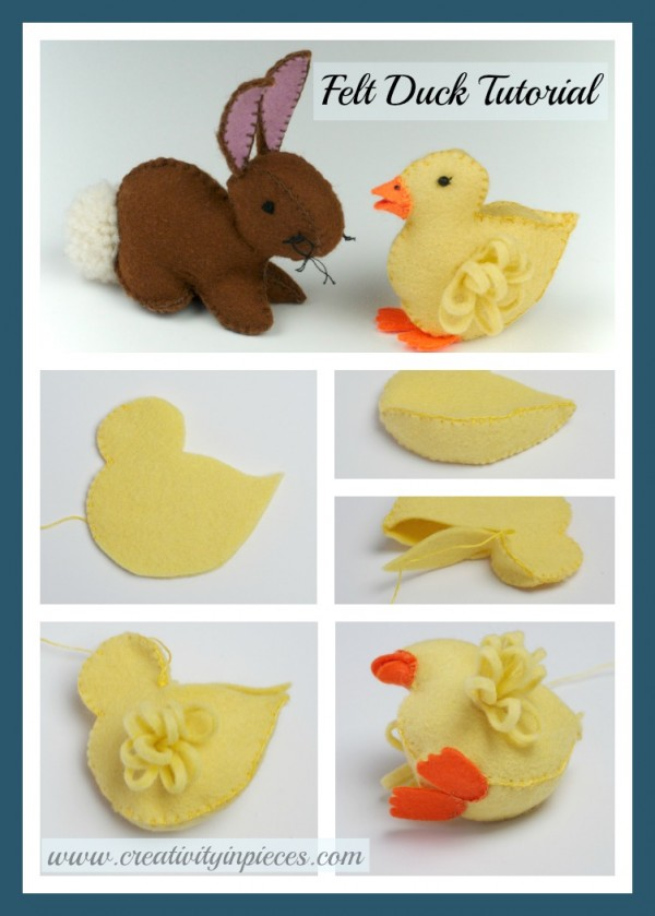 Felt Duckling And Easter Bunny Template Free Tutorials