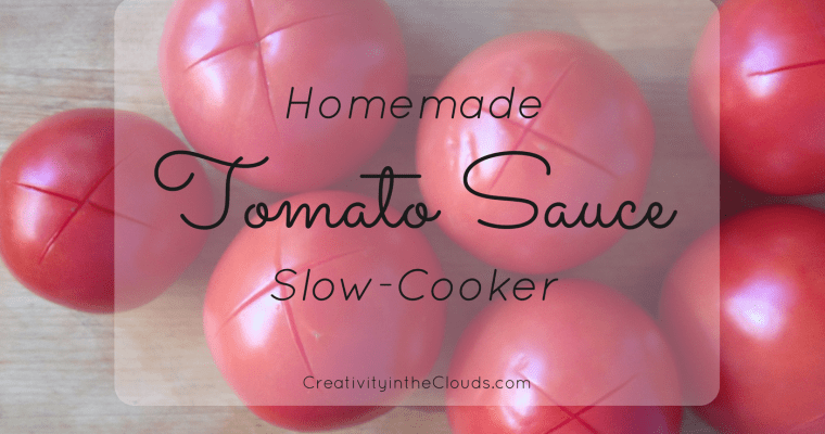 Delicious Homemade Slow-Cooker Tomato Sauce
