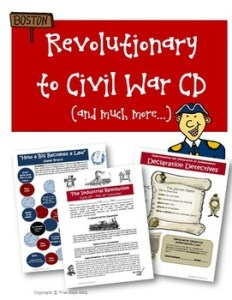 http://www.teacherspayteachers.com/Product/Revolutionary-War-to-Civil-War-Units-Activities-Lessons-Worksheet-CD-85427