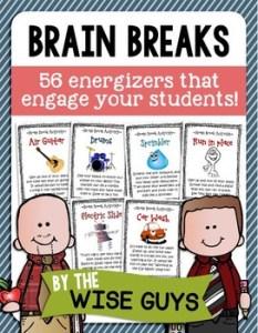 http://www.teacherspayteachers.com/Product/Brain-Breaks-for-the-Elementary-Classroom-1451760
