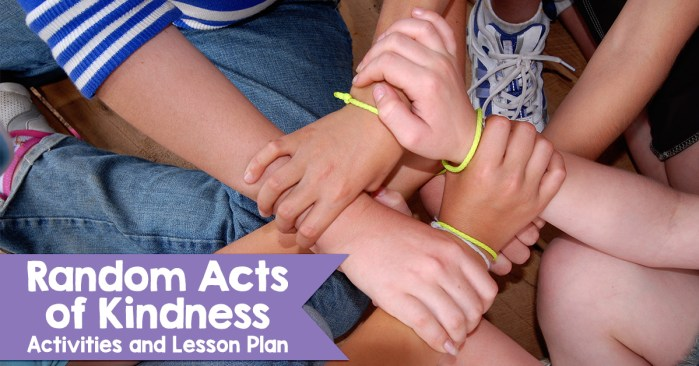 Random Acts of Kindness Activities and Lesson Plan for RAK Week