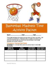 College Basketball Madness Tournament March Activity Bundle