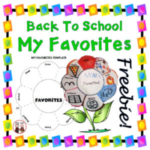 back to school foldable activity