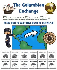 Students will learn about the Colombian Exchange through this activity.