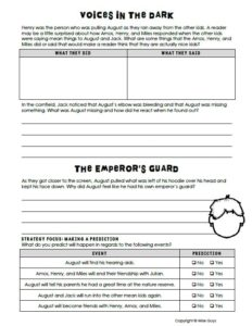 Here is a complete novel unit for the book Wonder. It is filled with reading strategies, vocabulary, projects, and other activities related to the book.