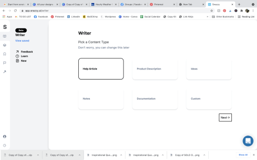 AI copywriting with Snazzy AI