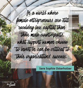 quote sara sophie - support for women changemakers - creators for good