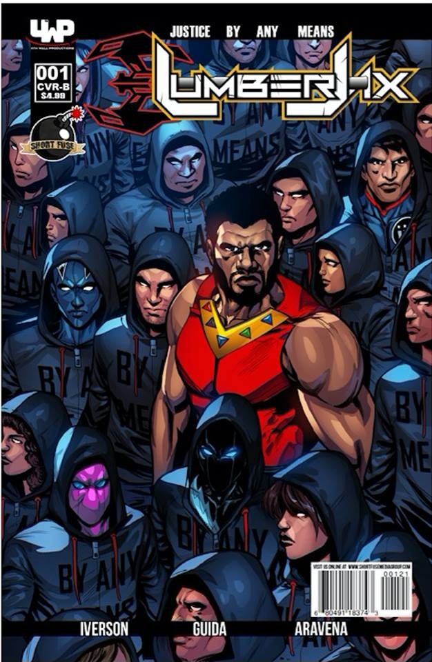 Variant cover of Lumberjax #1 (which features Invulnerable