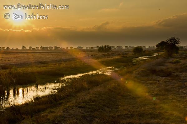 Sun Setting over Pixley National Wildlife Reguge