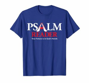Psalm Reader T-Shirt Blue
