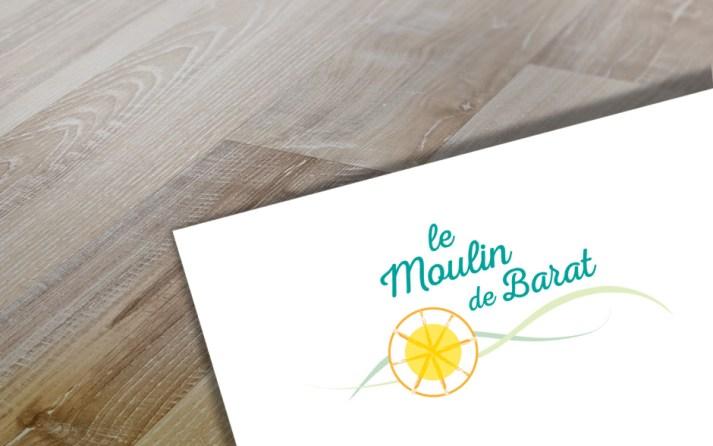 refonte logo - le moulin de barat - cecile spadotto creatrice graphique Graphiste Tarn - Webdesigner Tarn