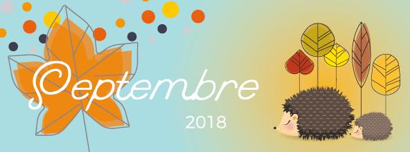 Calendrier SEPTEMBRE 2018
