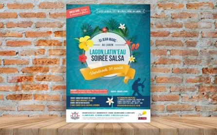 affiche sur mesure soiree - cecile spadotto creatrice graphique Graphiste Tarn - Webdesigner Tarn