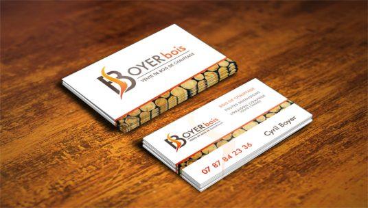 création cartes de visite sur-mesure - BOYER BOIS - cecile spadotto creatrice graphique Graphiste Tarn - Webdesigner Tarn