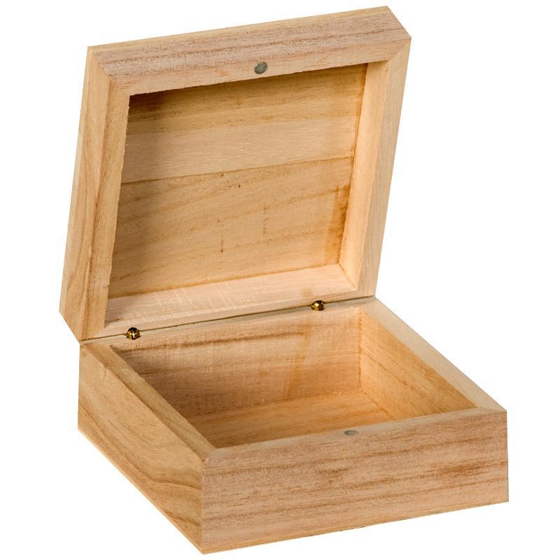 boite en bois carre 10 cm boite en bois a decorer creavea