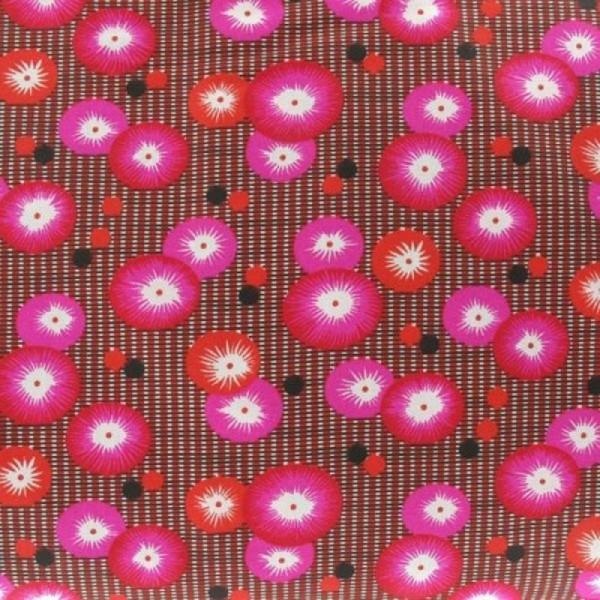 tissu enduit coquelicot rouge petit pan