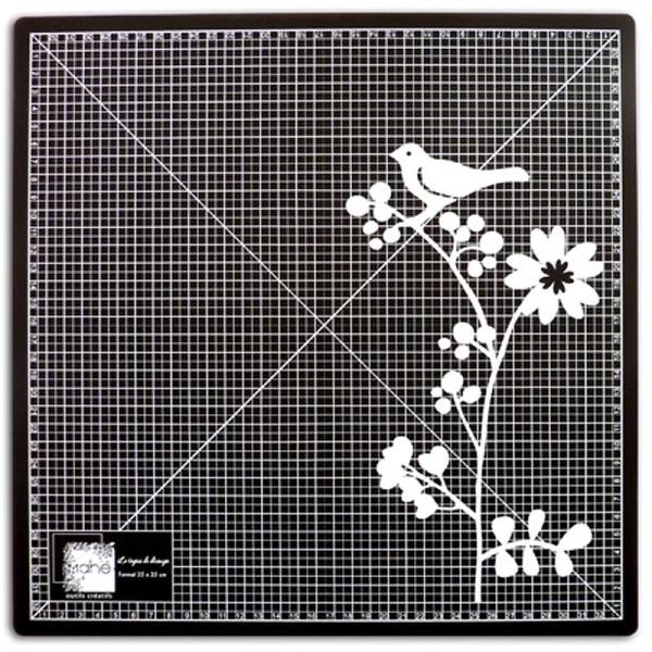 tapis de decoupe auto cicatrisant 35 x 35 cm noir