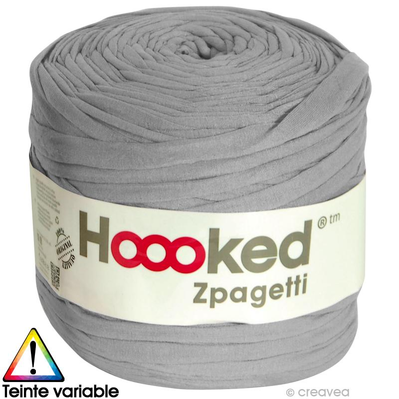 Zpagetti Hoooked DMC Pelote Jersey Gris 120 Mtres
