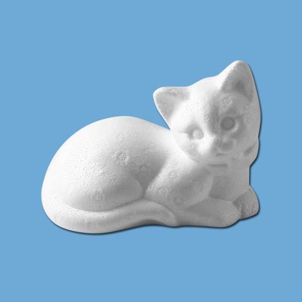 chat couche en polystyrene 14 cm