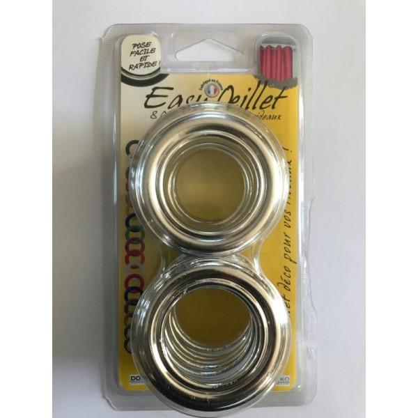 oeillets pour rideaux a clipser lot de 8 coloris argent 901 o 41mm