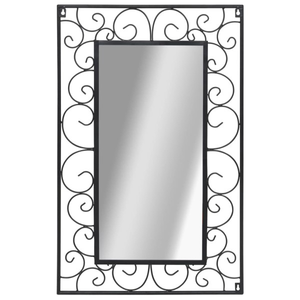 vidaxl miroir mural rectangulaire 50 x 80 cm noir