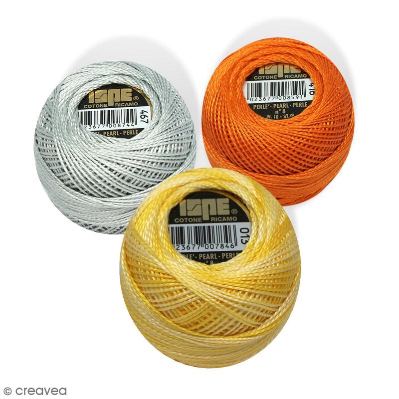 fil coton perle ispe n 8 100 coton 10 g 82 m coton perle creavea