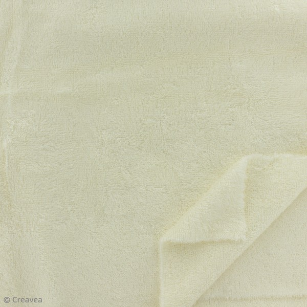 tissu eponge de bambou ecru par 10 cm sur mesure