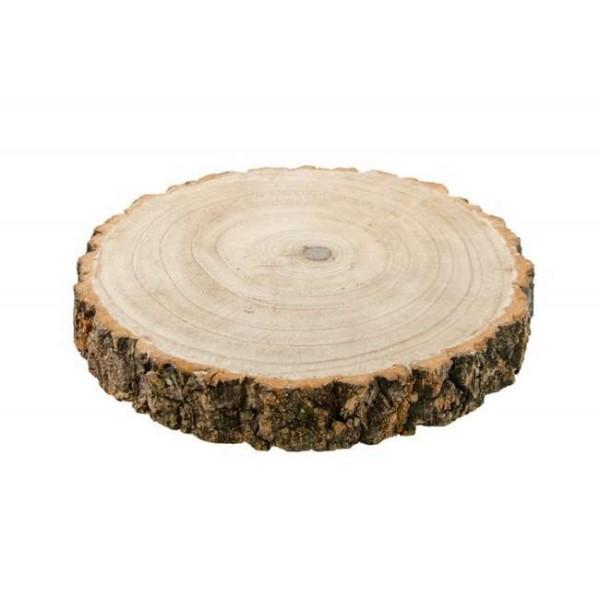 deco de table rondin de bois d 26 cm epais