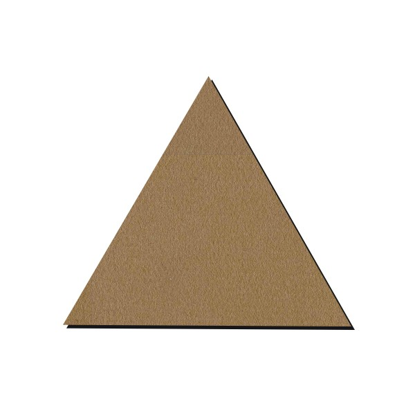 forme en bois a decorer triangle 15 cm