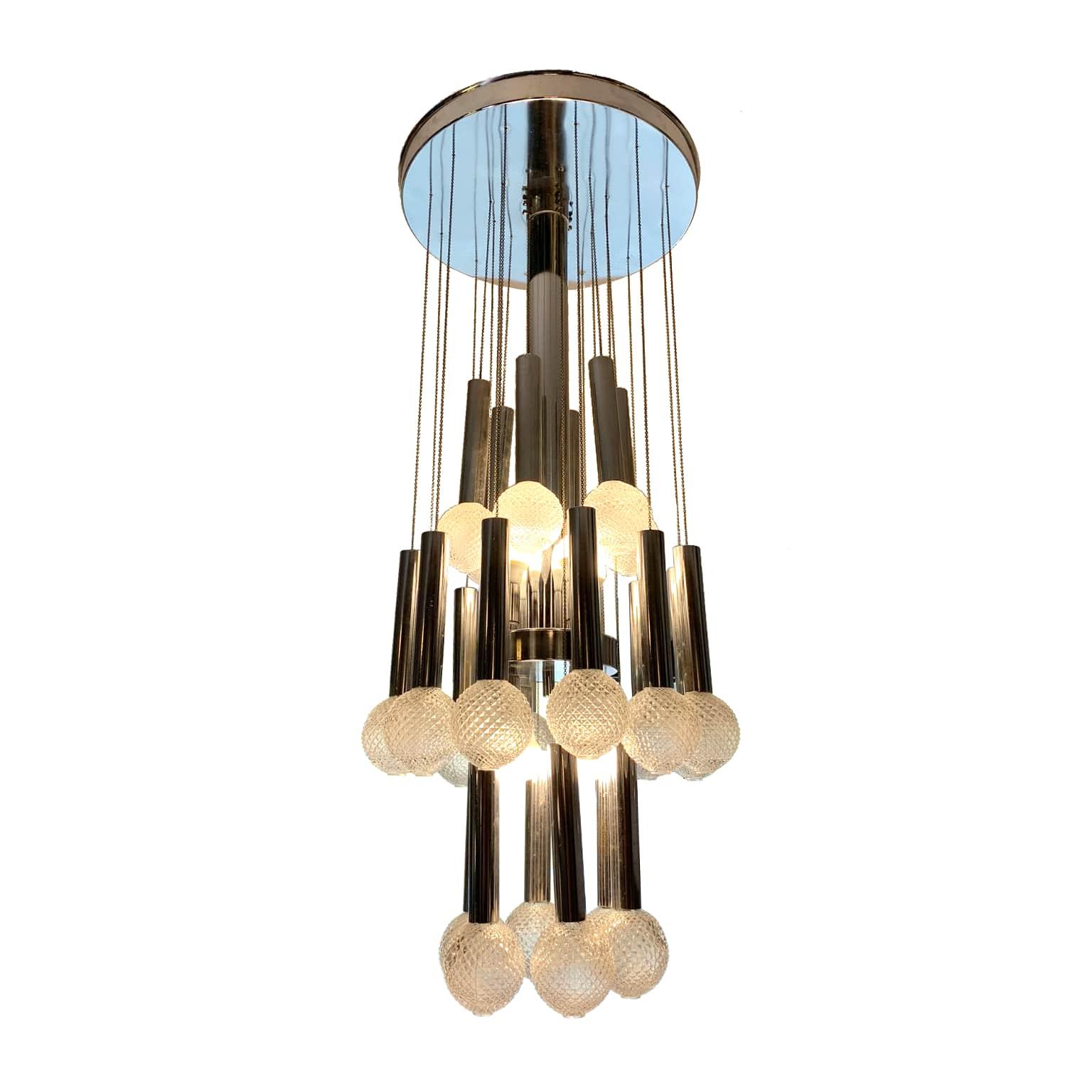 Moda degli anni 70, decorazioni, lampadario fai da te, etsy, lampadario vintage. Gaetano Sciolari Lampada A Sospensione Anni 70 Creazioni D Interni