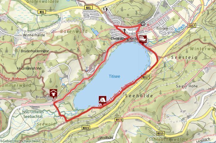 ruta lago titisee