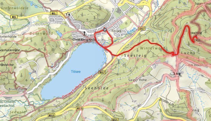 ruta lago titisee y hochfirst alrededores