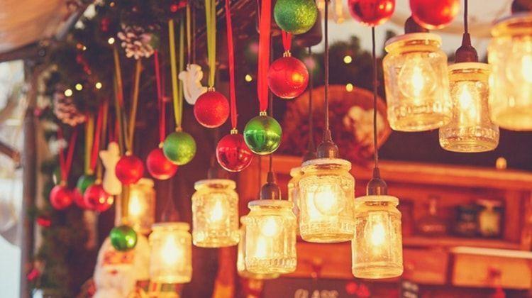 adornos navidad tarros